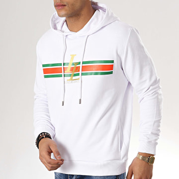 Luxury Lovers - Sweat Capuche Stripes Blanc