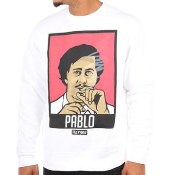 Thug N Swag - Sweat Crewneck Pablo Blanc