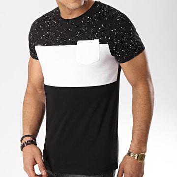 LBO - Tee Shirt Poche 289 Noir Blanc Speckle