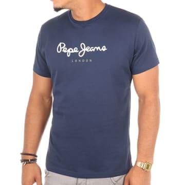 Pepe Jeans - Tee Shirt Eggo Bleu Marine