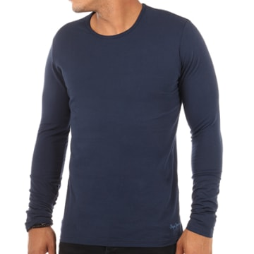 Pepe Jeans - Tee Shirt Manches Longues Original Basic Bleu Marine