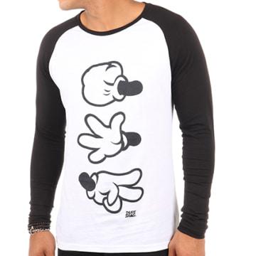 Thug N Swag - Tee Shirt Manches Longues Game Blanc Noir