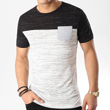 Tee Shirt Poche 26 Noir Blanc