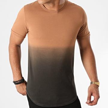 LBO - Tee Shirt Oversize 102 Camel Dégradé Noir