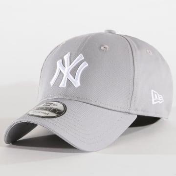 New Era - Casquette Baseball 9Forty League Basic New York Yankees Gris Blanc