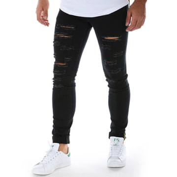 Sixth June - Jean Skinny Destroy 1404-254KD Noir