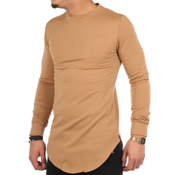 Sweat Crewneck Oversize UP-T118 Camel
