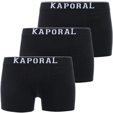 Kaporal - Lot De 3 Boxers Quad Noir