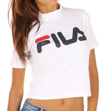 Fila - Tee Shirt Crop Femme Every Turtle 681267 Blanc