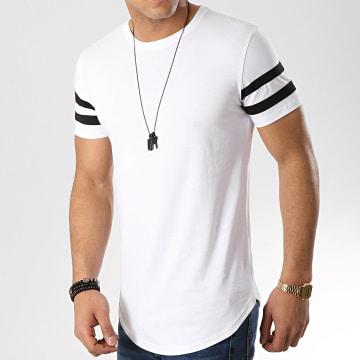 Tee Shirt Oversize Avec Bandes Noires 350 Blanc