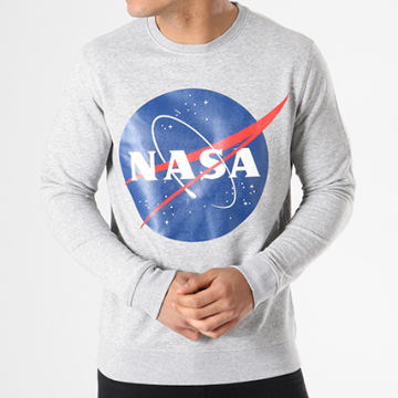 Sweat Crewneck Insignia Front Gris Chiné