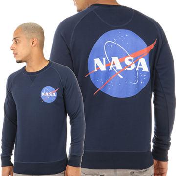 NASA - Sweat Crewneck Insignia Bleu Marine