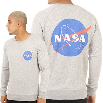 NASA - Sweat Crewneck Insignia Gris Chiné