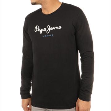 Pepe Jeans - Tee Shirt Manches Longues Eggo Noir