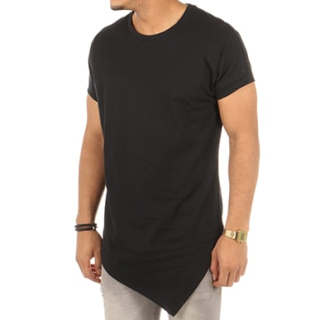 Urban Classics - Tee Shirt Oversize Asymétrique TB1227 Noir