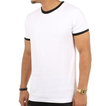 Urban Classics - Tee Shirt TB1566 Blanc Noir