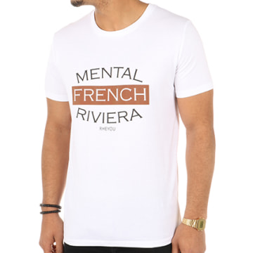 Tee Shirt Mental French Riviera Blanc