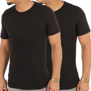 G-Star - Lot De 2 Tee Shirts D07202-2757 Noir