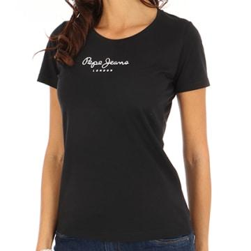 Pepe Jeans - Tee Shirt Femme New Virginia Noir