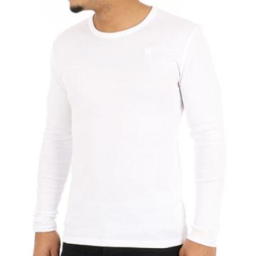 G-Star - Tee Shirt Manches Longues D07204-124 Blanc