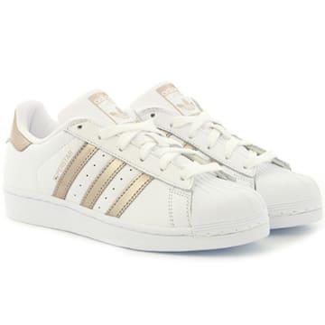 Adidas Originals - Baskets Femme Superstar CG5463 Footwear White Cyber Metallic
