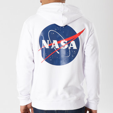 NASA - Sweat Capuche Insignia Blanc