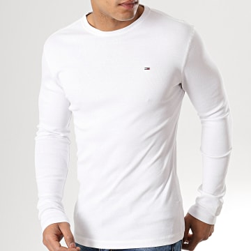 Tommy Hilfiger - Tee Shirt Manches Longues Original 4409 Blanc