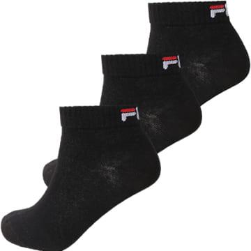 Fila - Lot De 3 Paires De Chaussettes Calza Quarter F9300 Noir