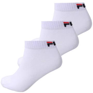Fila - Lot De 3 Paires De Chaussettes Calza Quarter F9300 Blanc