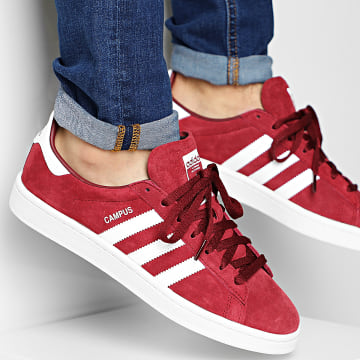 Adidas Originals - Baskets Campus BZ0087 Collegiate Burgundy Footwear White Chalk White