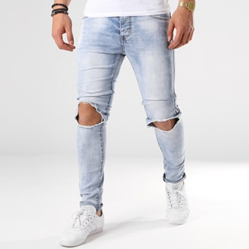 LBO - Jean Skinny Troué 72175-2 Denim Bleu Wash