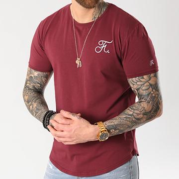 Final Club - Tee Shirt Oversize Premium Fit Avec Broderie 003 Bordeaux
