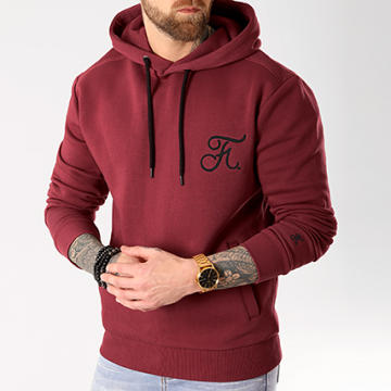 Sweat Capuche Premium Fit Avec Broderie 026 Bordeaux