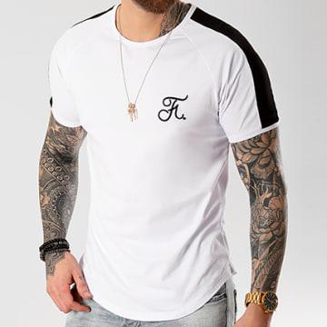 Tee Shirt Oversize Premium Fit Avec Bande Et Broderie 039 Blanc