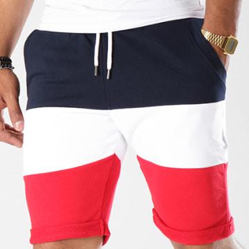Short Jogging 394 Tricolore Noir Bleu Marine Rouge