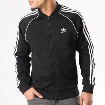 Adidas Originals - Veste Zippée Avec Bandes Brodées SST CW1256 Noir
