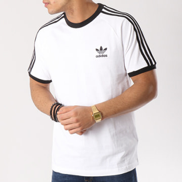 Tee Shirt 3 Stripes CW1203 Blanc Noir