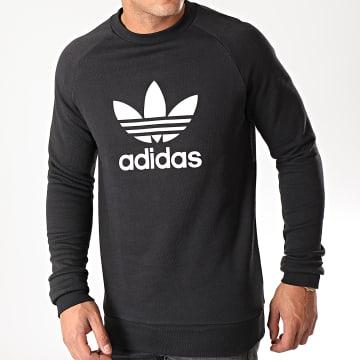 Adidas Originals - Sweat Crewneck Trefoil CW1235 Noir Blanc