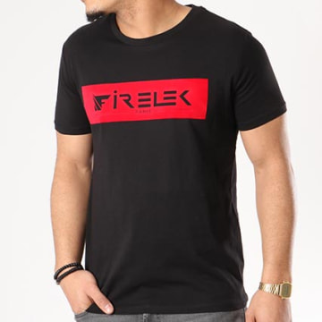 Tee Shirt Logo Feutrine Noir Rouge