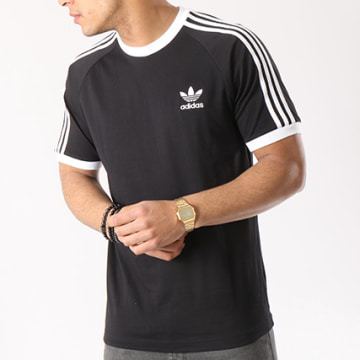 Tee Shirt 3 Stripes CW1202 Noir Blanc