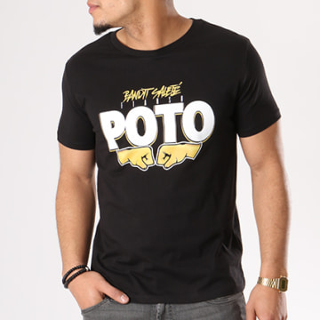 Sofiane - Tee Shirt Poto Poings Noir