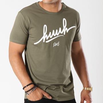 Tee Shirt Huuh Logo Vert Kaki