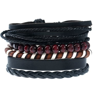 California Jewels - Lot De 5 Bracelets City Noir Marron