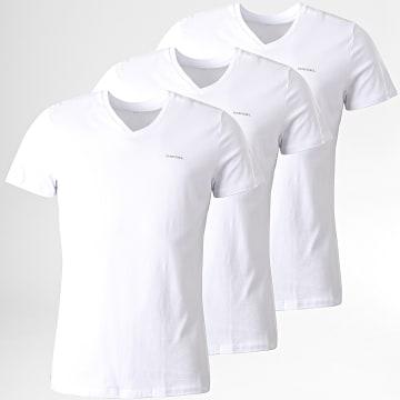 Diesel - Lot De 3 Tee Shirts Jake 00SPDM-0AALW Blanc