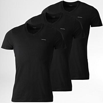 Diesel - Lot De 3 Tee Shirts Jake 00SPDM-0AALW Noir