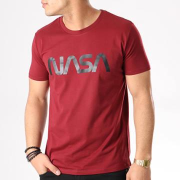NASA - Tee Shirt Worm Logo Bordeaux