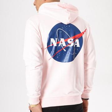 NASA - Sweat Capuche Insignia Rose Pale