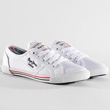 Pepe Jeans - Baskets Femme Aberlady Basic 17 PLS30500 White