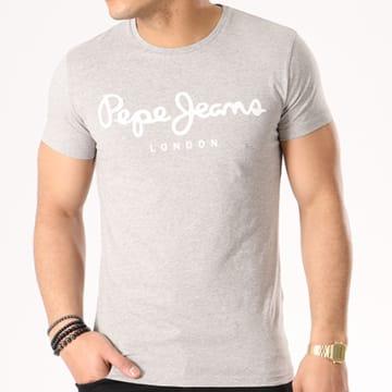 Pepe Jeans - Tee Shirt Original Stretch Gris Chiné