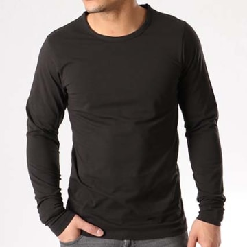 Jack And Jones - Tee Shirt Manches Longues O Neck Noir